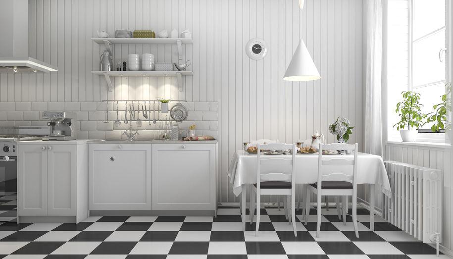 Cucina hi-design e low cost: bianca e scandinava