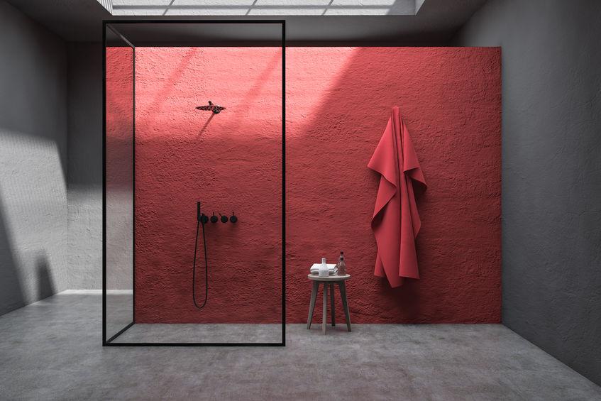 parete bagno bordeaux