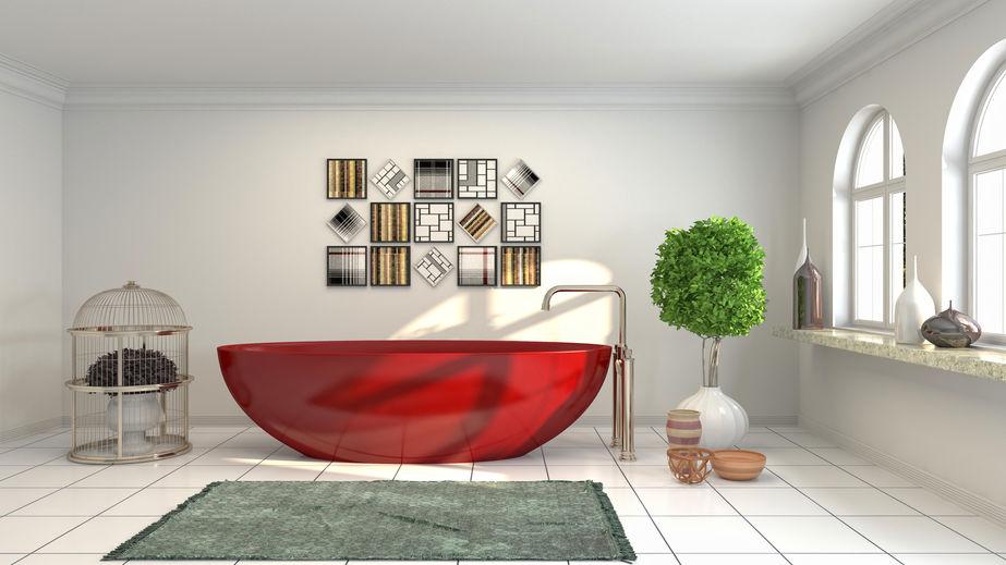 vasca da bagno bordeaux