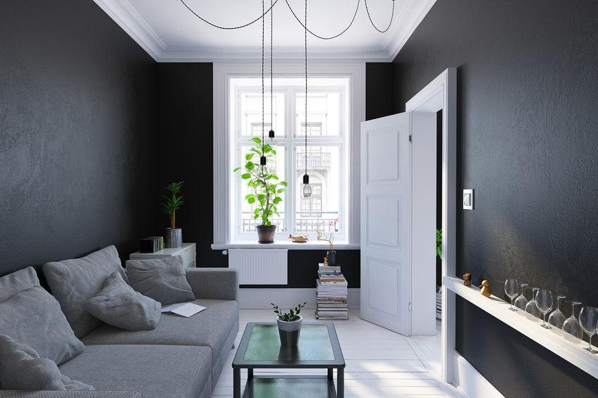 pareti nere stile nordico