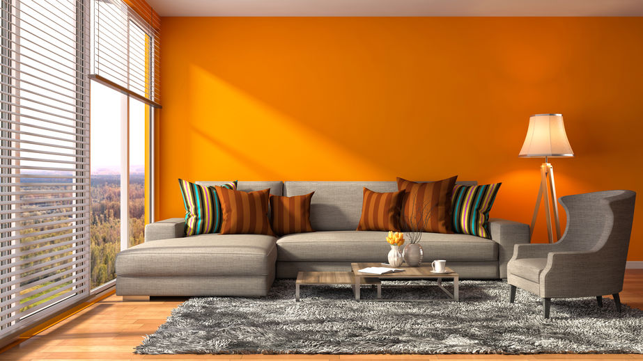 dipingere parete arancione