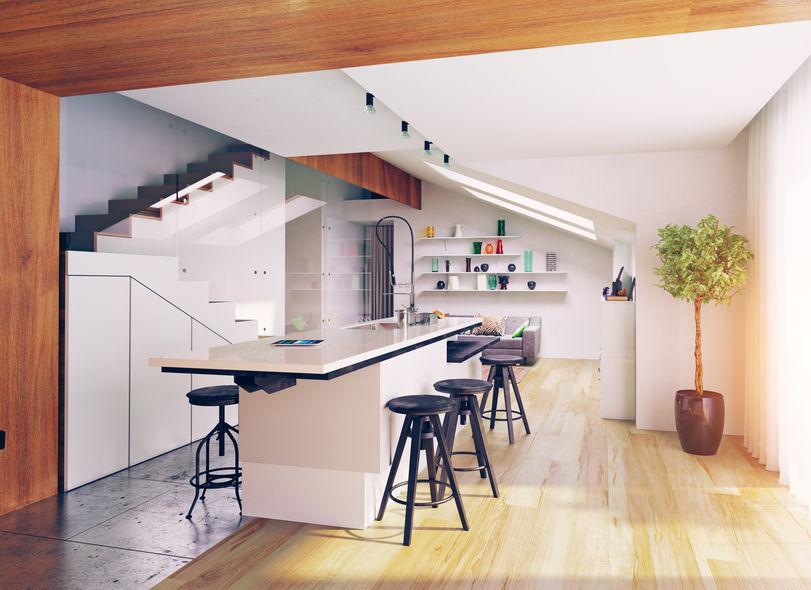 Idee per realizzare una cucina in mansarda