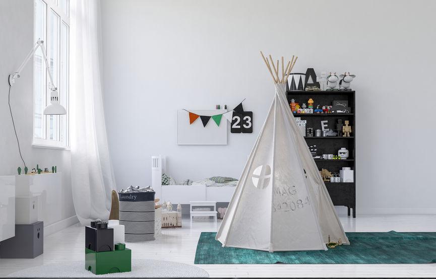 Kids bedroom: la tenda degli indiani
