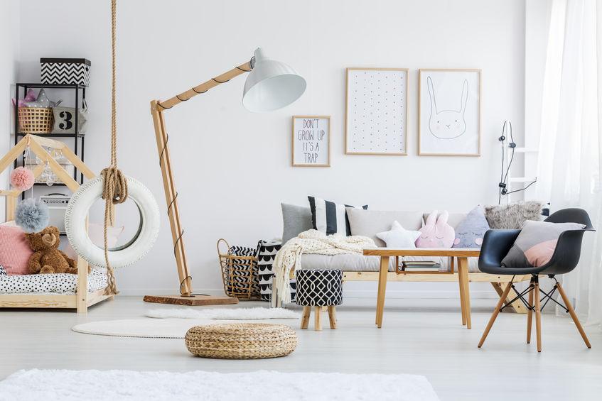 Kids bedroom: liana con copertone