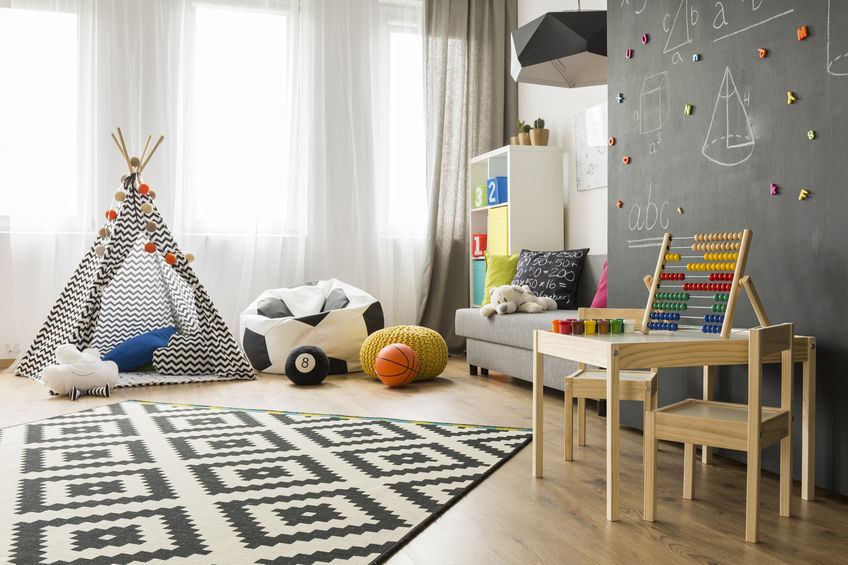 Kids bedroom: pareti lavagna per disegnare