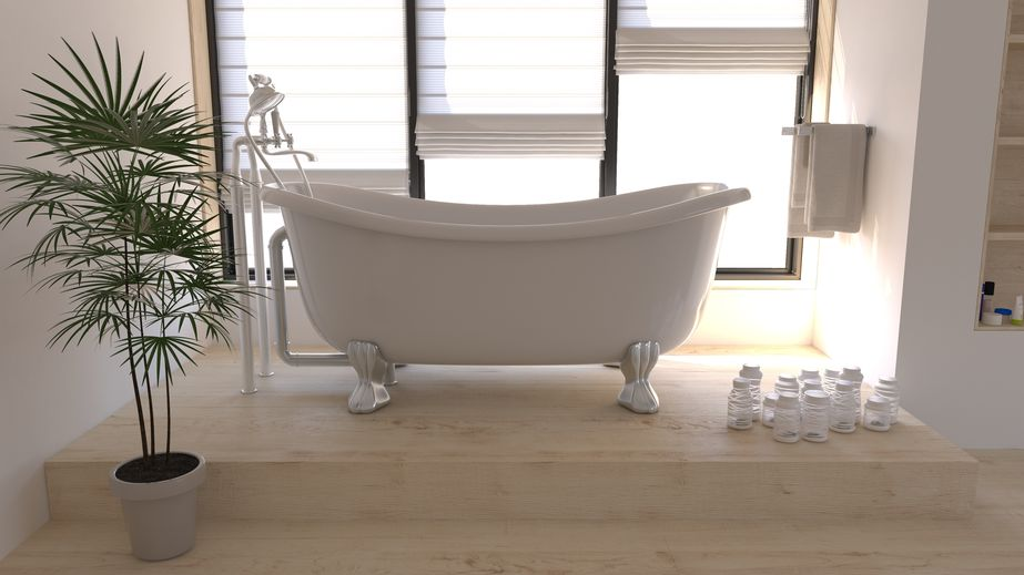 Tende a pacchetto: moderne in bagno