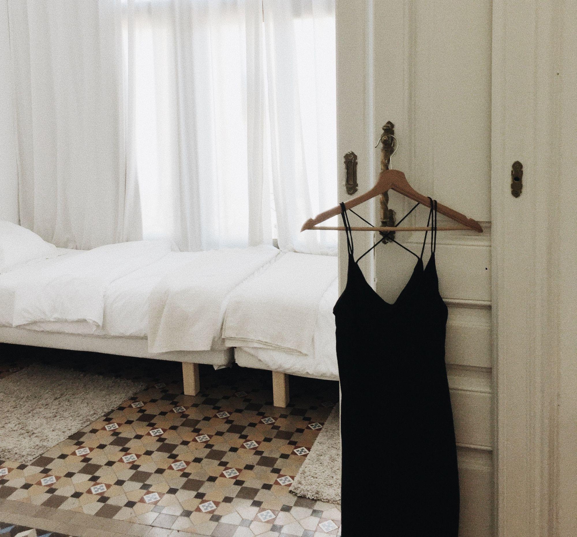 Pavimento vintage in camera da letto