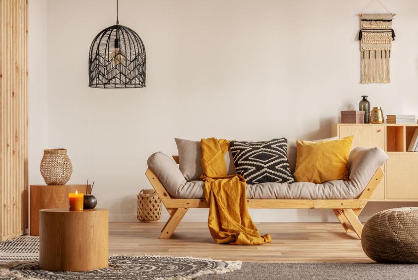 Decorare casa autunno: arancione caldo e accogliente