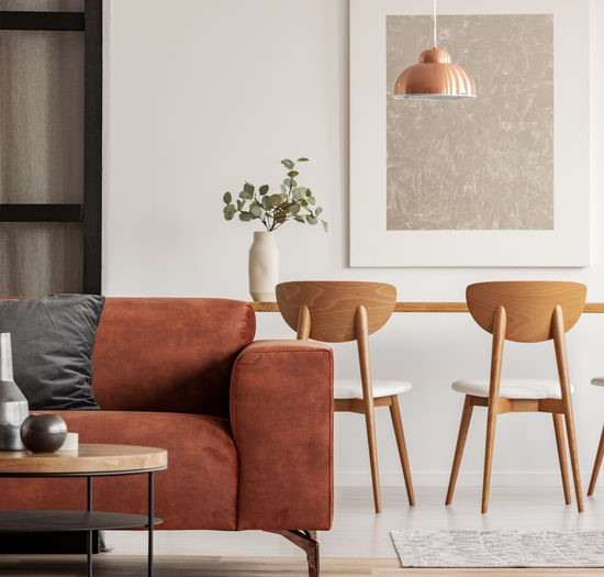Decorare casa autunno: marrone elegante