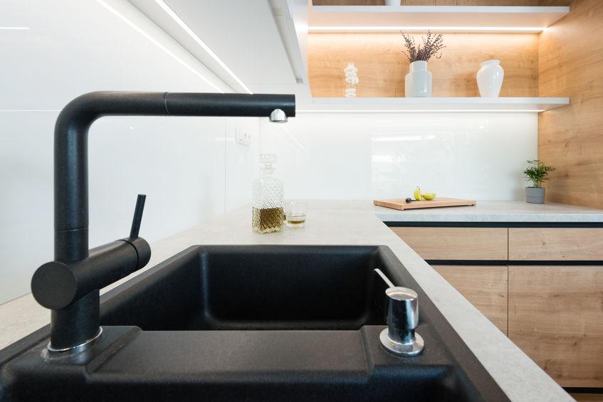 Rubinetti in cucina con doccetta estraibile