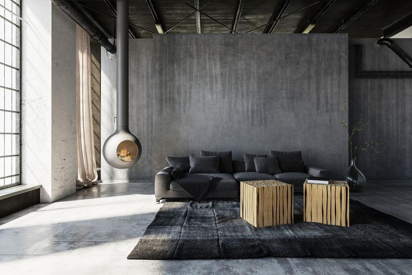 Living: una zona giorno trendy in grigio
