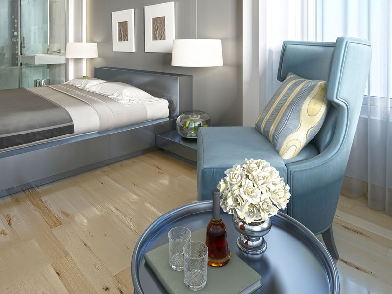 Art decò: elegante camera da letto