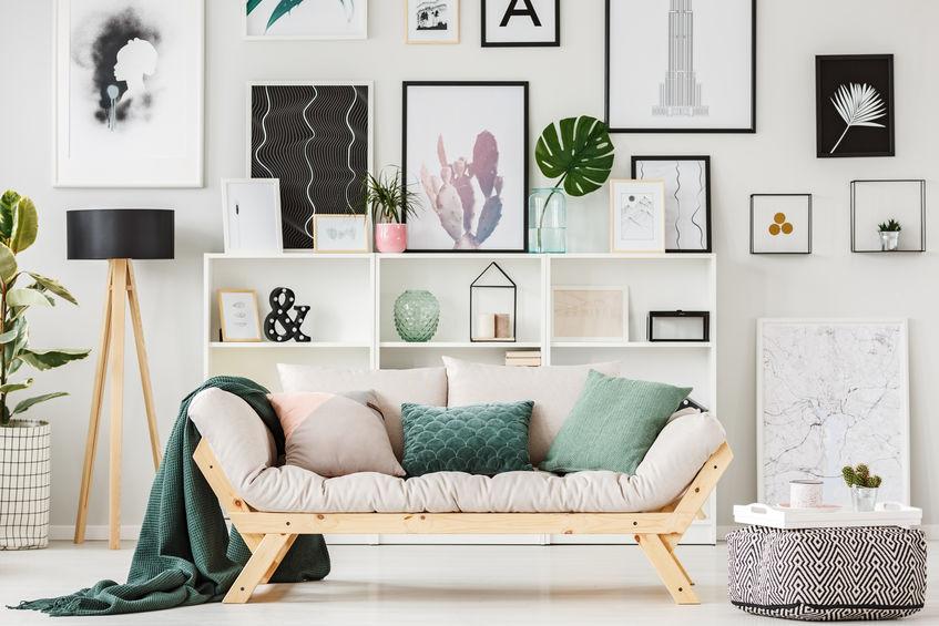 salotto moderno colorato