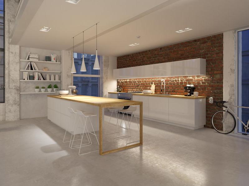Isola in cucina: scegliere il metallo per gli sgabelli