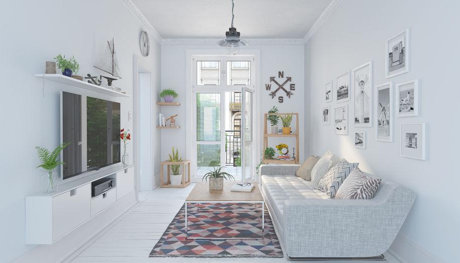Zona giorno: decorare le pareti con le cornici
