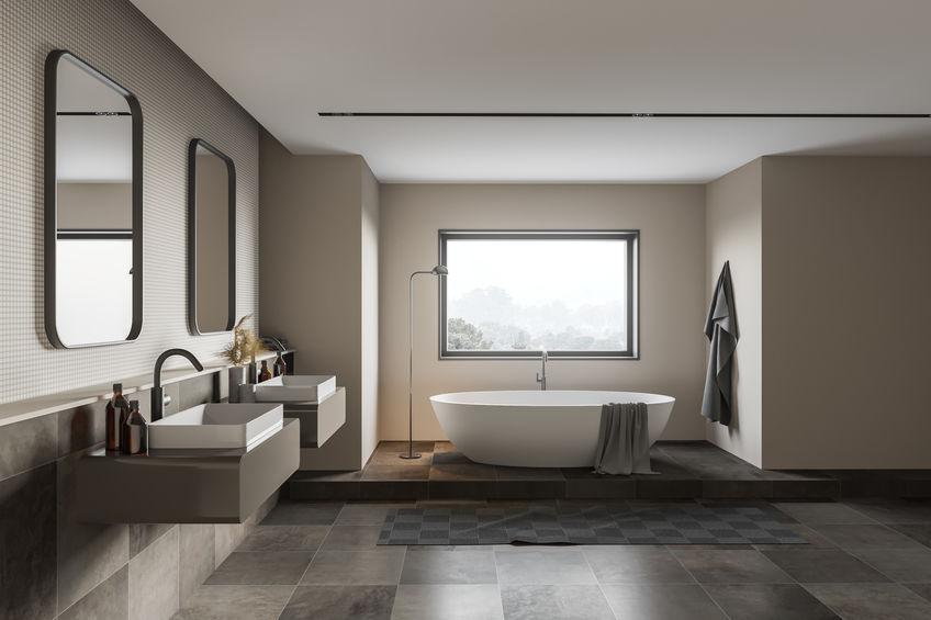 Doppio lavabo in bagno: indipendenti su due mobiletti