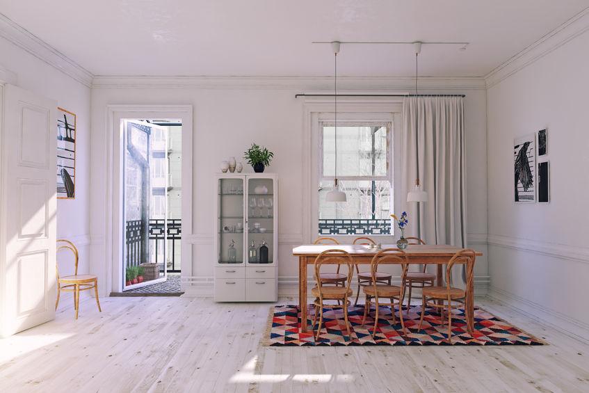 Tendenza sedie: thonet naturale nella sala da pranzo