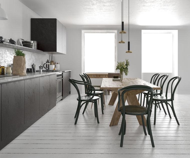 Sedia thonet: sensazionale in cucina