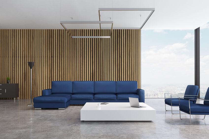 Arredare in bianco e blu il soggiorno