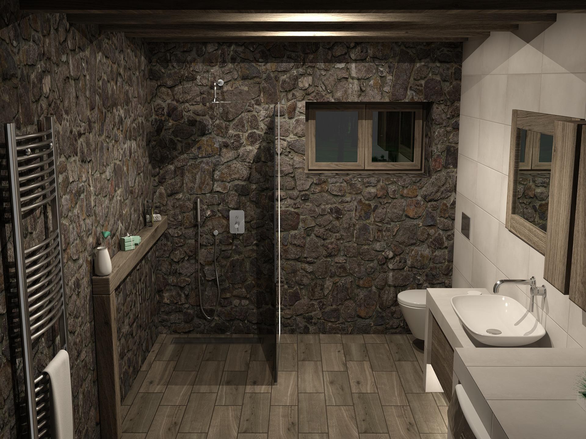 Rivestire il bagno con le piastrelle nella zona lavabo