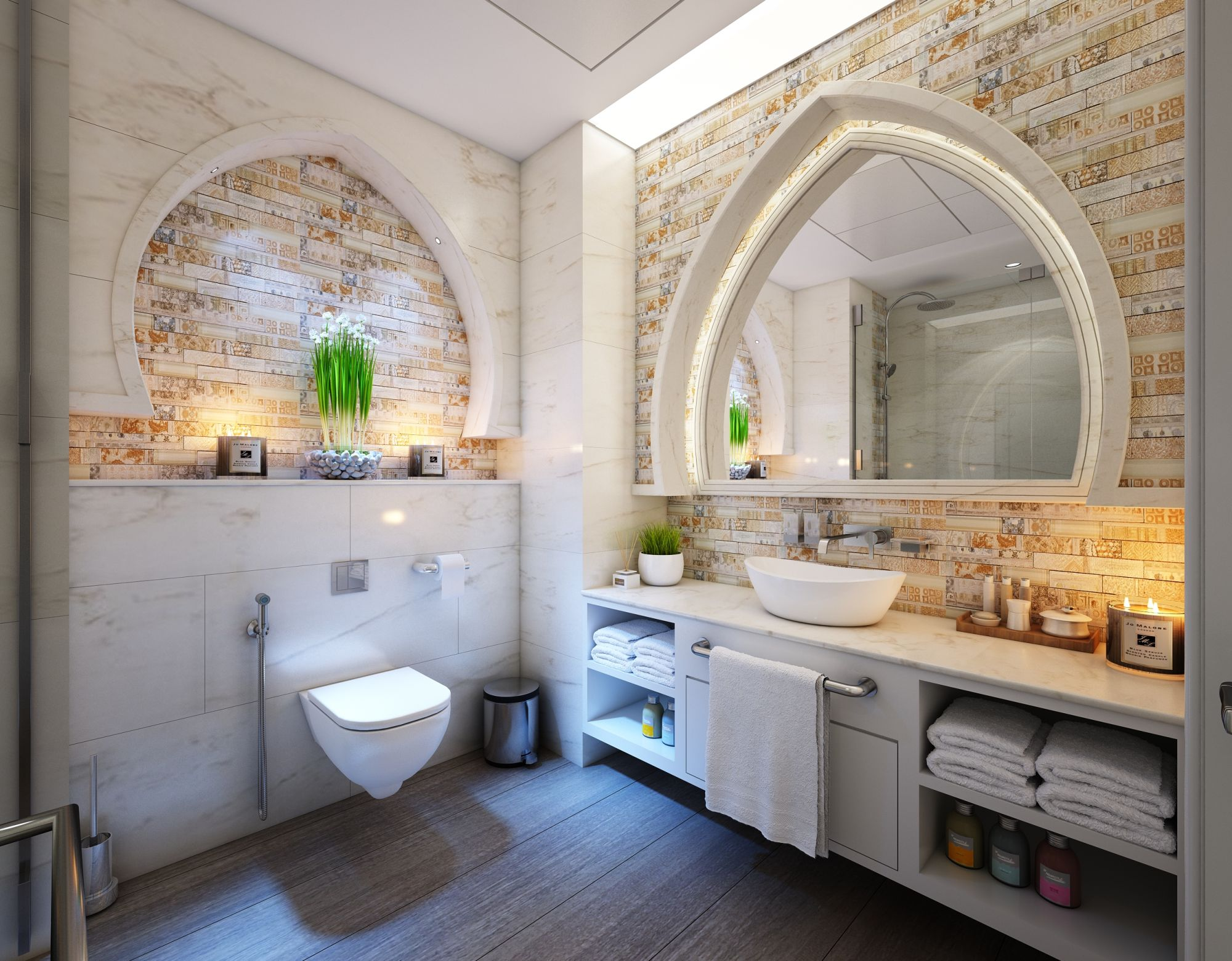 pulizia sanitari filo muro