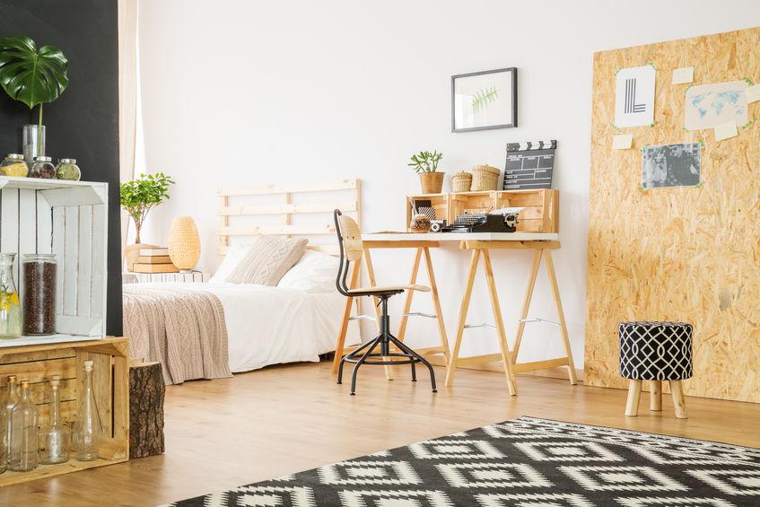 angolo studio camera da letto