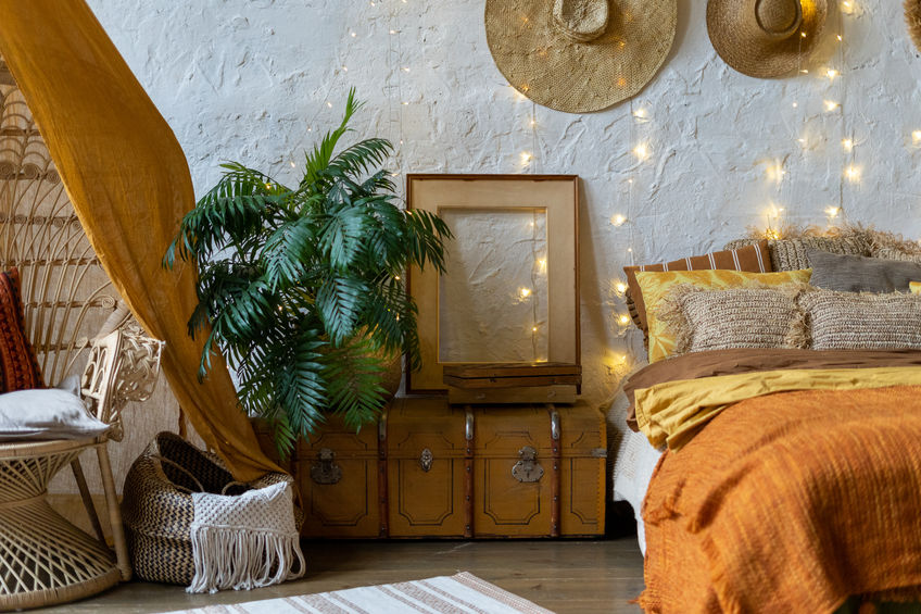 tessuti camera da letto arancione