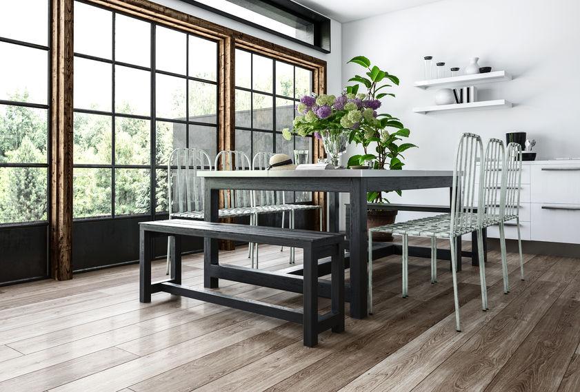 Tipologie di panche per il tavolo in cucina