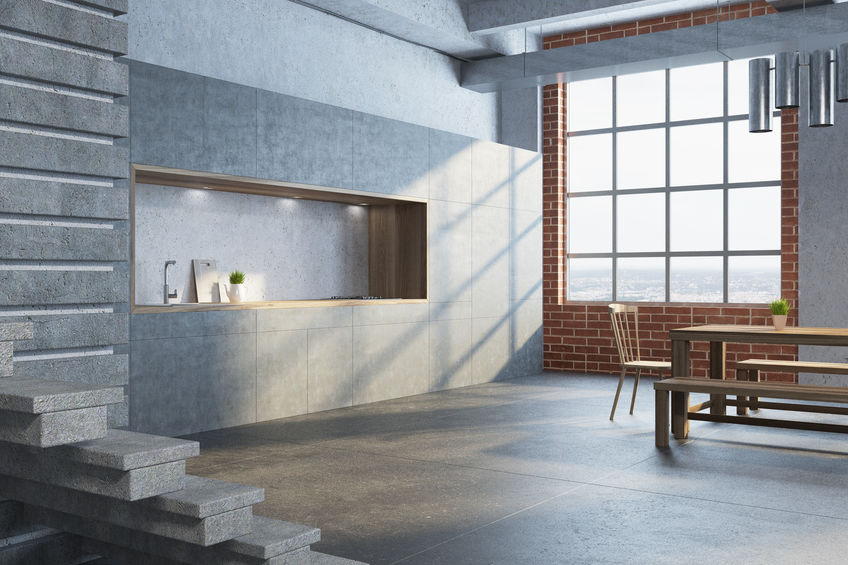 Panca lineare e contemporanea in cucina