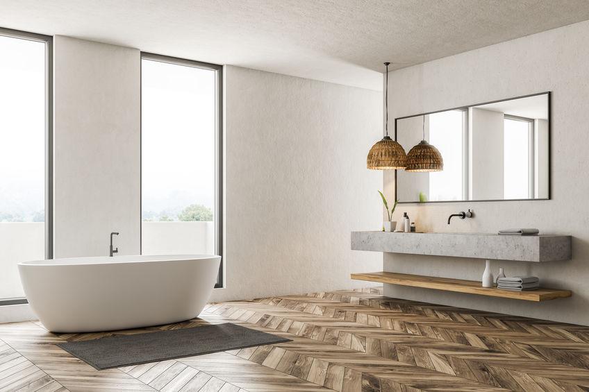 Rubinetti a parete: scegli lo stile adatto al bagno