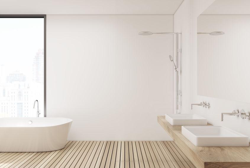 Rubinetti a parete in bagno: scegli lo stile adatto