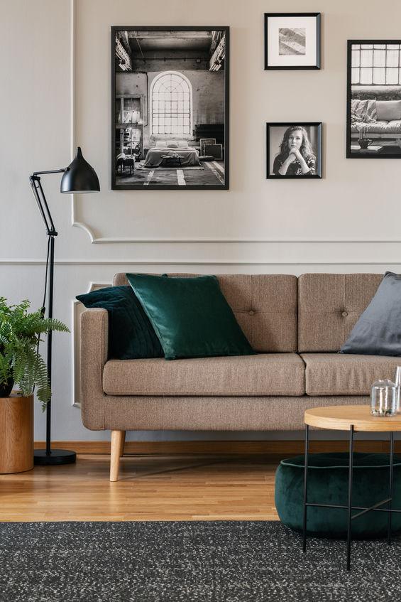 Pouf e cuscini: salottino verde ottanio