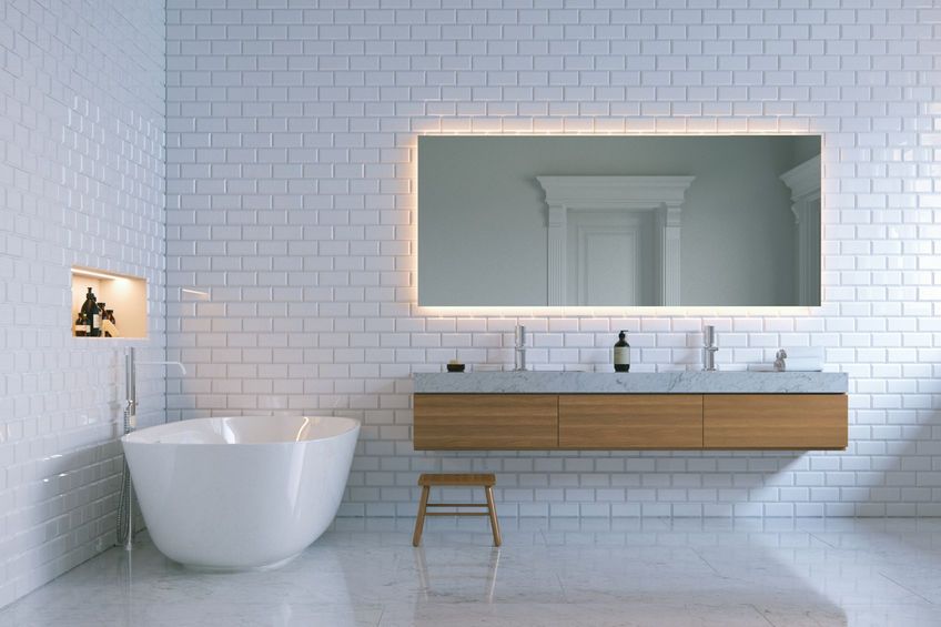 Specchio in bagno: illuminare con stile