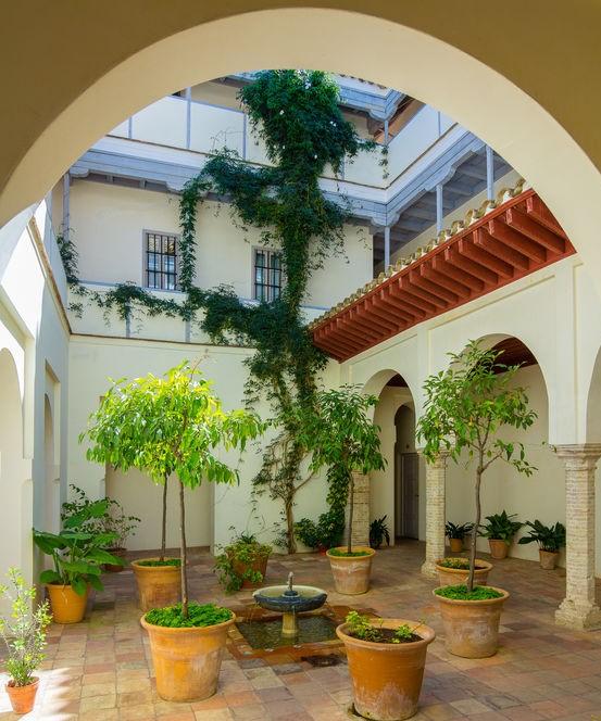 patio con archi
