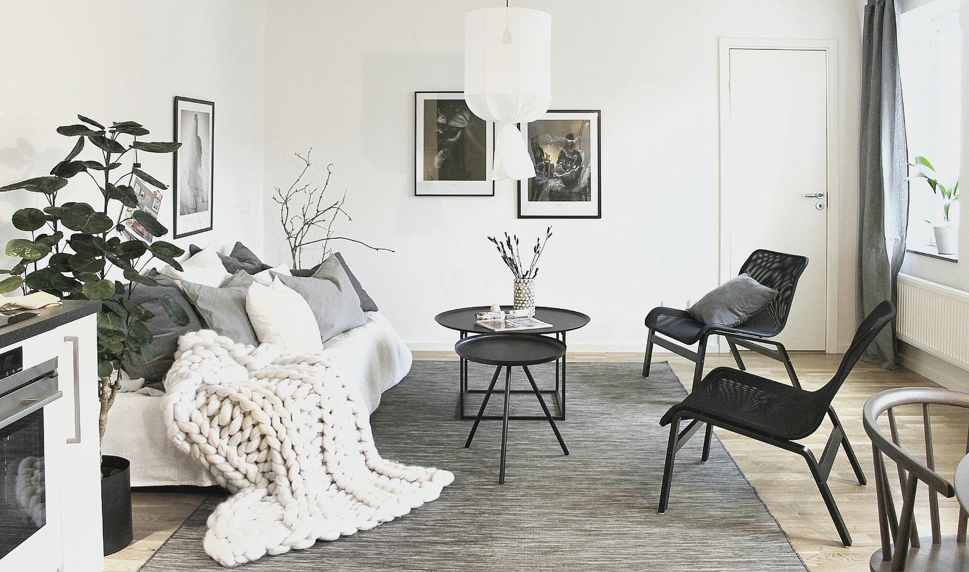 Morbidi plaid in lana per il soggiorno