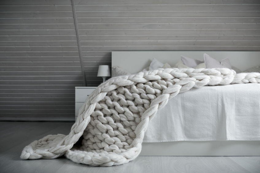 Chunky wool: copriletti e coperte in camera da letto