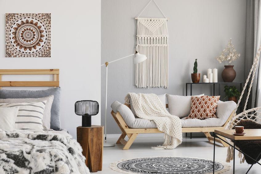 integrazione salotto e camera da letto