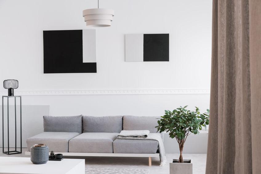 Quadri in casa: geometrici nel living