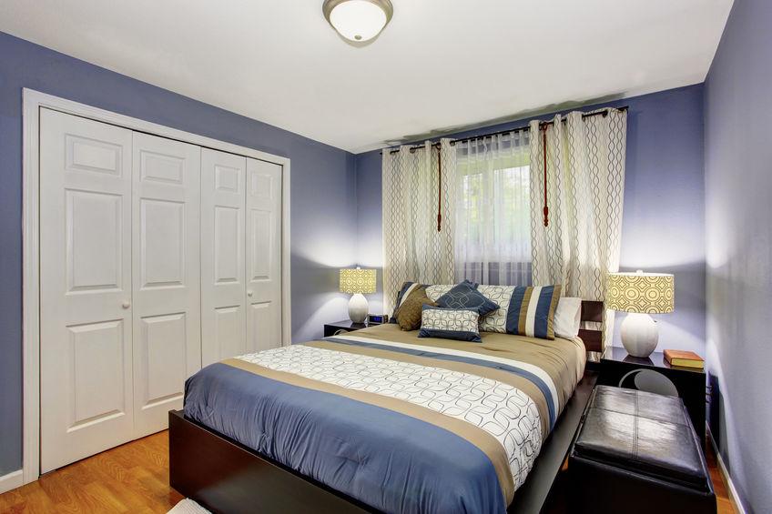 armadio a muro in camera da letto