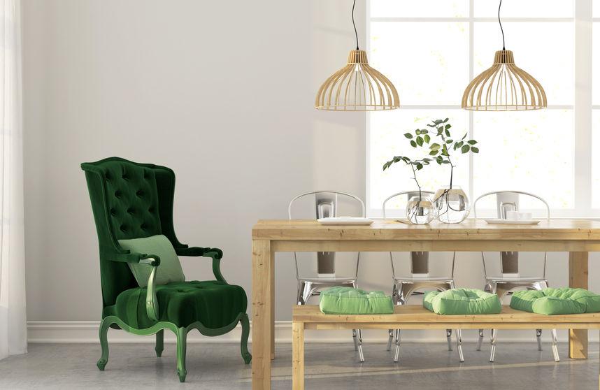 colore verde per gli interni