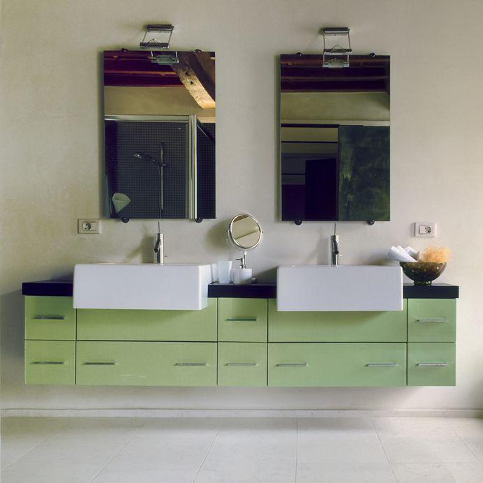 mobile bagno verde