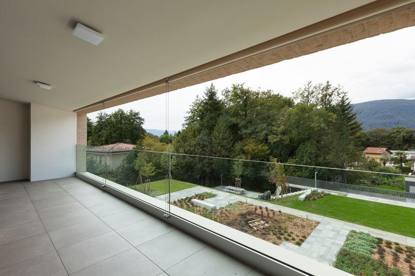 Pavimento per balcone: piastrelle in gres