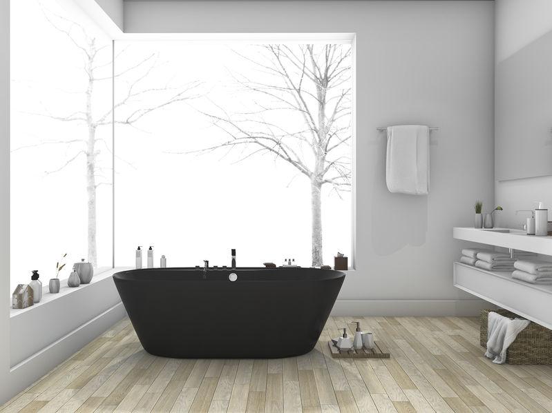 Bagno: vasca trendy in nero