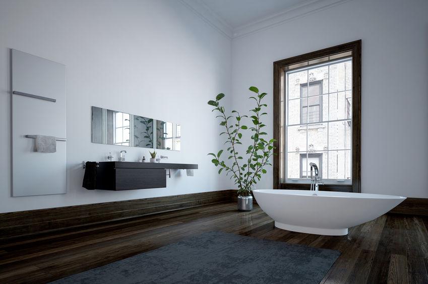 Bagno: consolle minimalista in nero