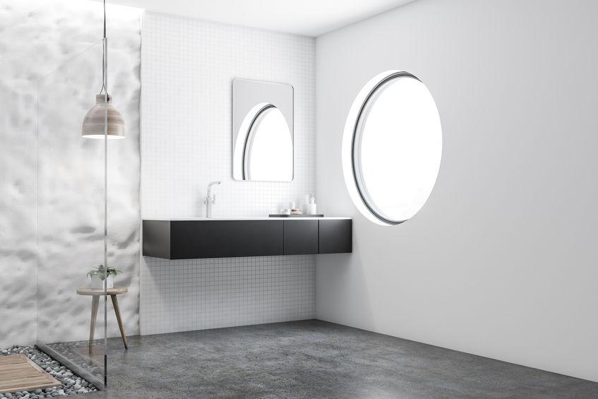 Idee per inserire accessori in nero in bagno