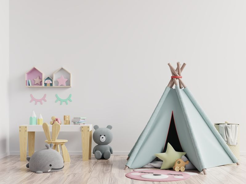 Una mini scrivania a tutti gli effetti nella camera del bambino