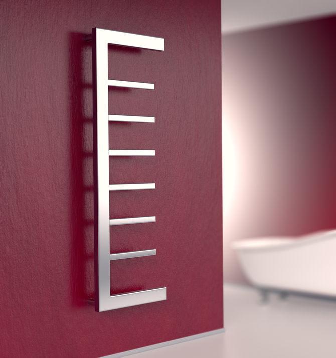 Termoarredo in bagno: design minimalista