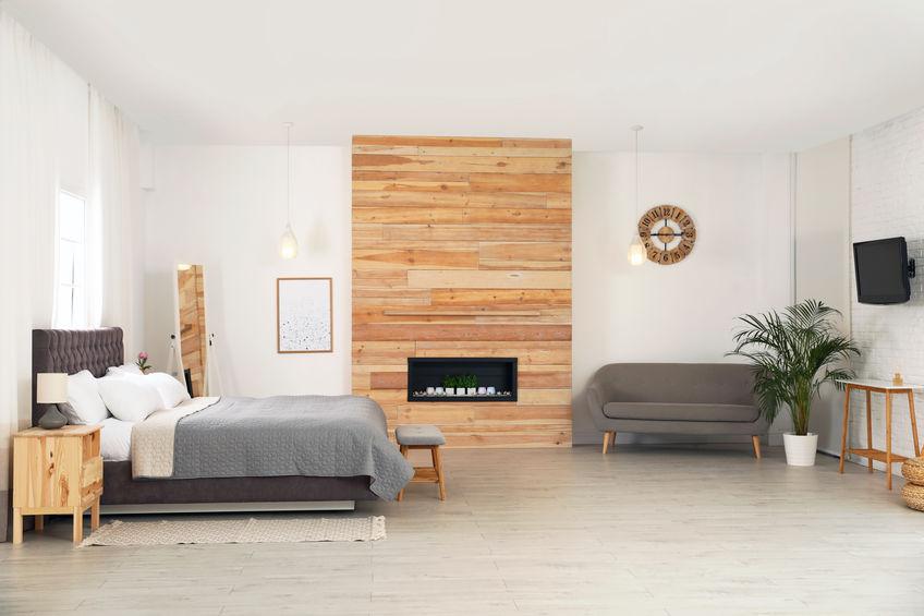 camera da letto con soggiorno