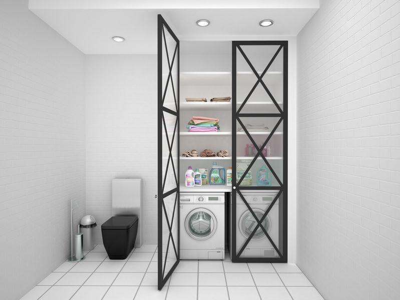 lavanderia nel seminterrato