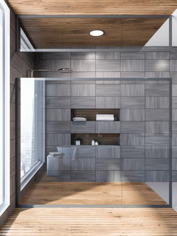 Bagno di design: doccia assoluta padrona